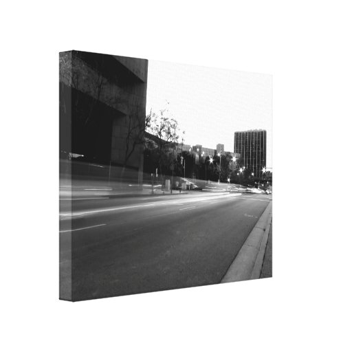 Black And White Cityscape 5 Stretched Canvas Prints