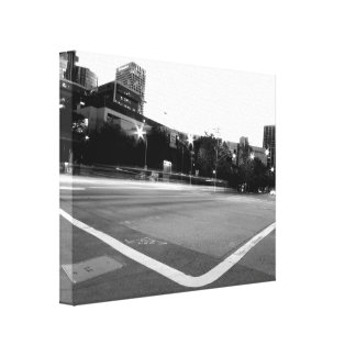 Black And White Cityscape 6 Gallery Wrapped Canvas