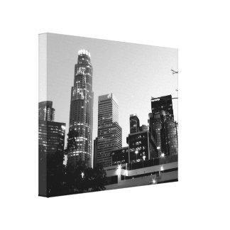 Black And White Cityscape 7 Canvas Print