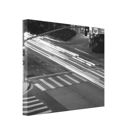 Black And White Cityscape 8 Gallery Wrap Canvas