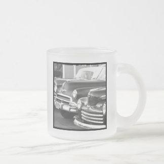 Black and white classic cars mug