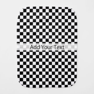 Black and White Classic Checkerboard by STaylor Burp Cloth