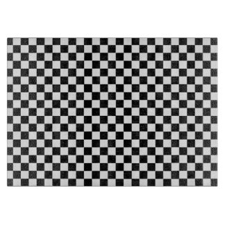 Black And White Classic Checkerboard by STaylor Cutting Board