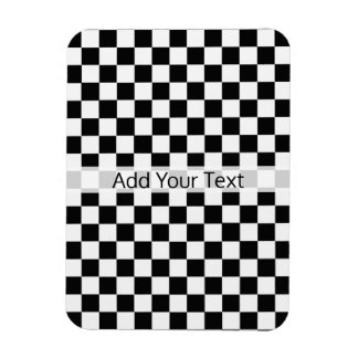 Black and White Classic Checkerboard by STaylor Magnet