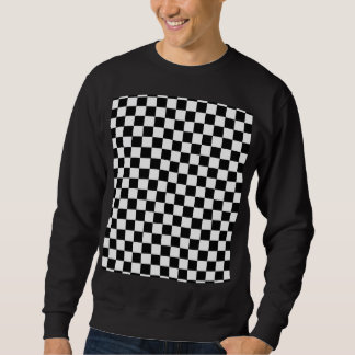 Black And White Classic Checkerboard by STaylor Sweatshirt