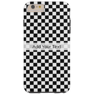 Black and White Classic Checkerboard by STaylor Tough iPhone 6 Plus Case