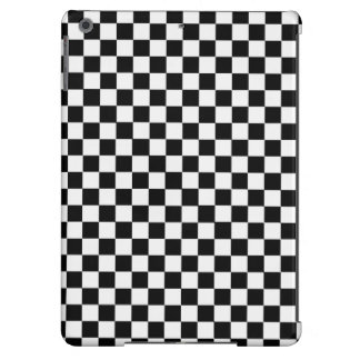 Black And White Classic Checkerboard Case For iPad Air