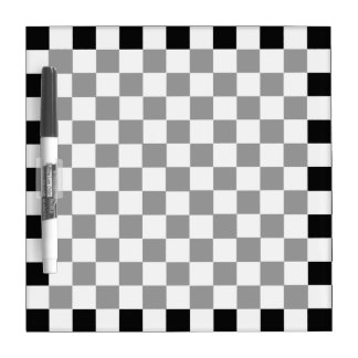 Black And White Classic Checkerboard Dry Erase Board