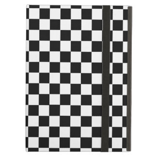 Black And White Classic Checkerboard iPad Air Covers