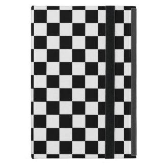 Black And White Classic Checkerboard iPad Mini Case