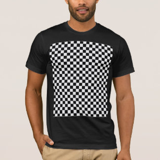 Black And White Classic Checkerboard T-Shirt