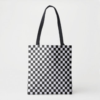 Black And White Classic Checkerboard Tote Bag