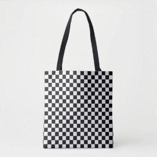 Black And White Classic Checkerboard Tote Bag