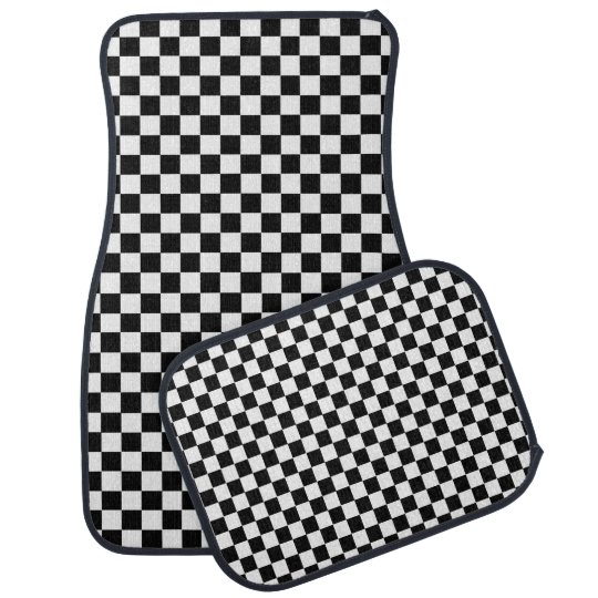 Black And White Classic Chequerboard by STaylor Car