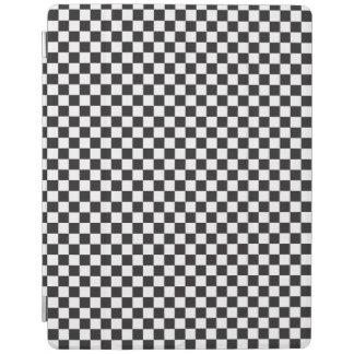 Black And White Classic Retro Checkered Pattern iPad Cover