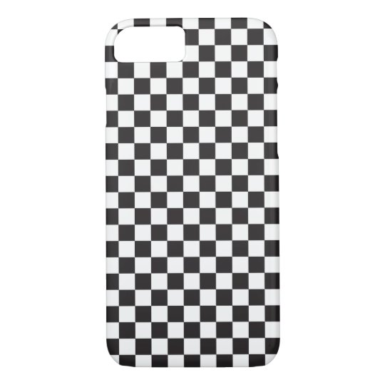 Black And White Classic Retro Chequered Pattern iPhone