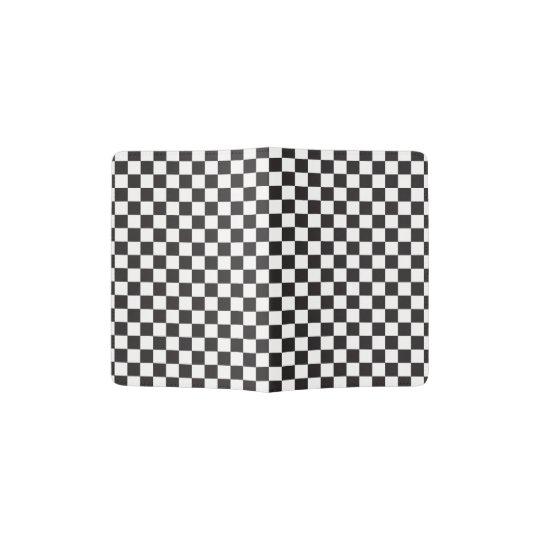 Black And White Classic Retro Chequered Pattern Passport