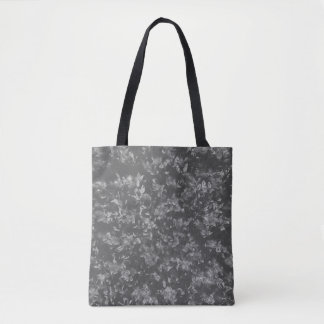 Black and White Classy Elegant Floral Pattern Tote Bag