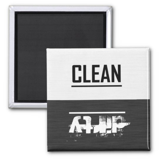 Black and White Clean / Dirty Dish Washer Magnet