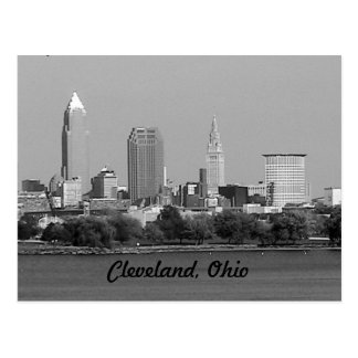 Black and White Cleveland OH Postcard