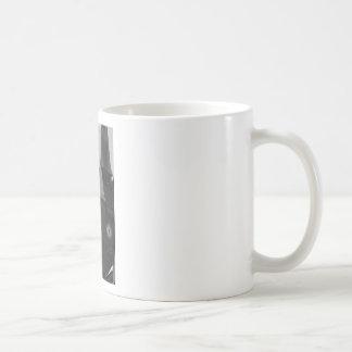 Black and White Clocktower Basic White Mug