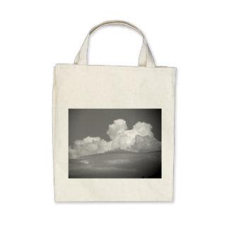 Black And White Cloud 1 Canvas Bag