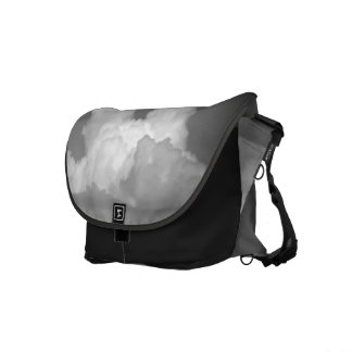 Black And White Cloud 2 Courier Bags