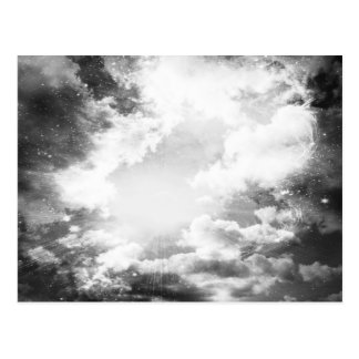 Black and White Clouds Light Postcard