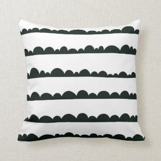 Black and White Clouds Pillow