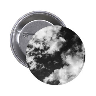 Black and White Cloudy weather 6 Cm Round Badge