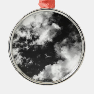Black and White Cloudy weather Christmas Ornament
