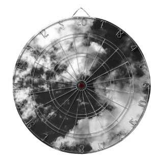 Black and White Cloudy weather Dartboard
