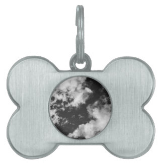 Black and White Cloudy weather Pet Tag