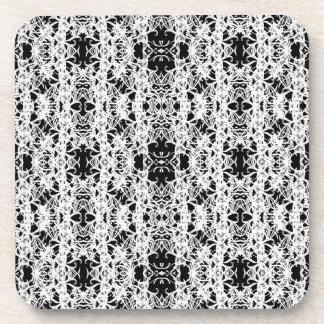 black and white coaster
