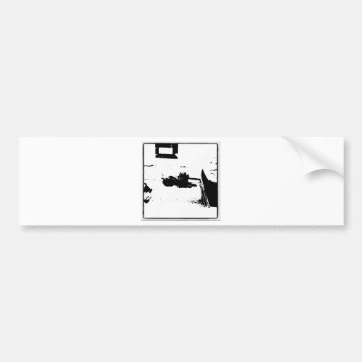 Black and White Cocker Spaniel Bumper Stickers
