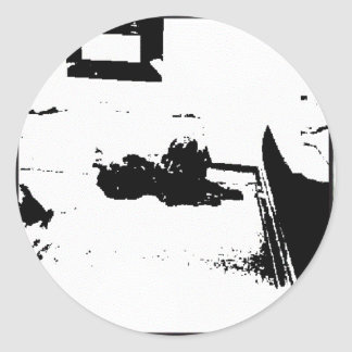 Black and White Cocker Spaniel Classic Round Sticker