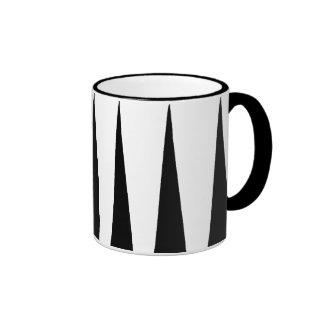Black and White Color Block Ringer Mug