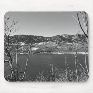 Black and White Colorado Mouse Pad