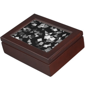 Black and White Confetti Memory Box