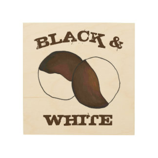 Black and White Cookie NYC New York Food Kitchen Wood Wall Decor