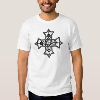 Black and White Coptic Cross Shirt