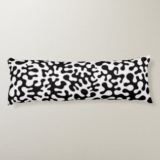Black and White Coral Blots Body Cushion
