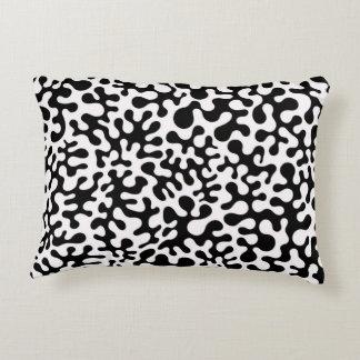 Black and White Coral Blots Decorative Cushion