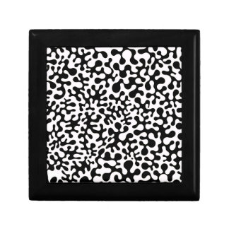 Black and White Coral Blots Gift Box