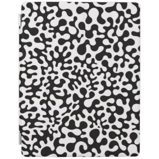 Black and White Coral Blots iPad Cover