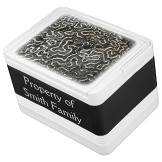 Black and White Coral II Abstract Nature Photo Igloo Cool Box
