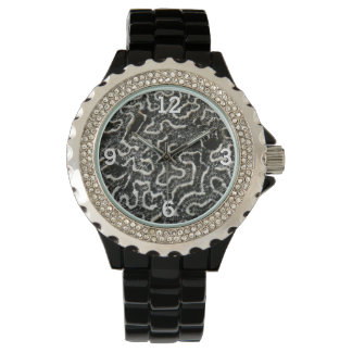 Black and White Coral II Abstract Nature Photo Watch
