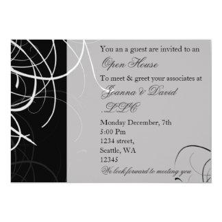 black and white Corporate party Invitation