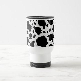 Black and White Cow Animal Pattern Print Stainless Steel Travel Mug