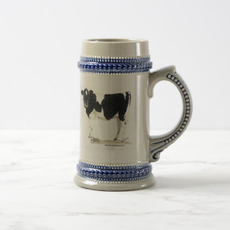 black and white cow beer stein coffee mugs